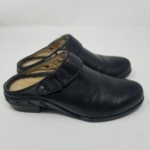 Ariat Black Leather Sport Mules